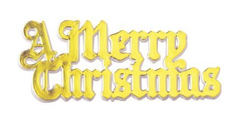 A Merry Christmas Gold Coloured Motto